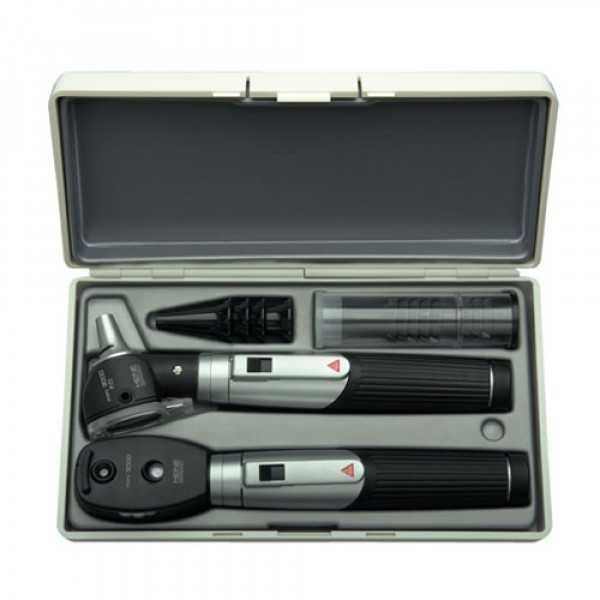 ست اتوسکوپ و افتالموسکوپ قلمی هاین با دو هندل mini3000