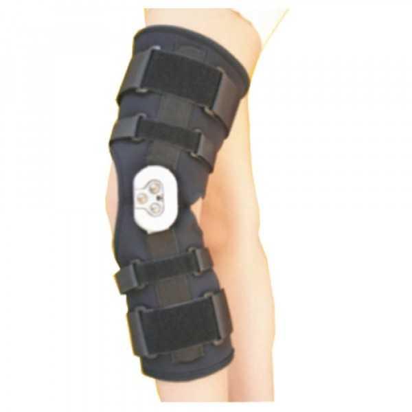 زانوبند توانبخشی با مفصل مدرج طب و صنعت