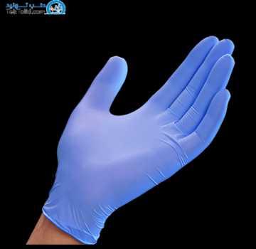 دستکش معاینه نیتریل بدون پودر