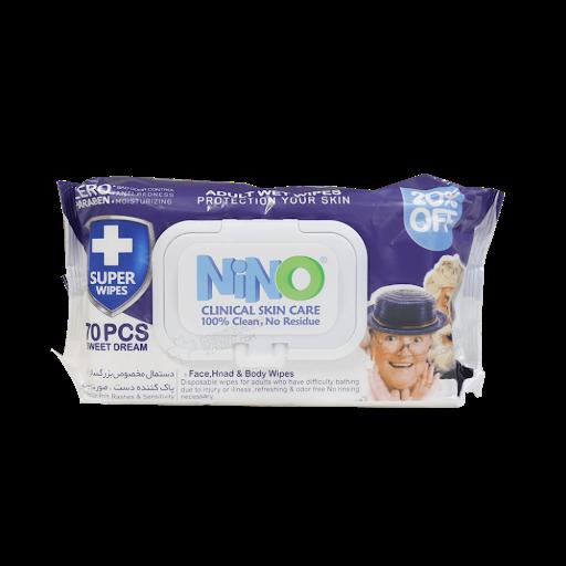 دستمال مرطوب بزرگسال Nino
