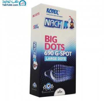کاندوم کدکس مدل Big Dots بسته 10 عددی
