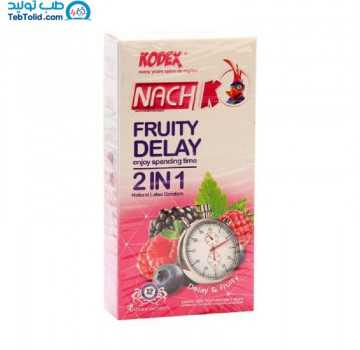 کاندوم کدکس مدل Fruity Delay 2 in 1 بسته 12 عددی