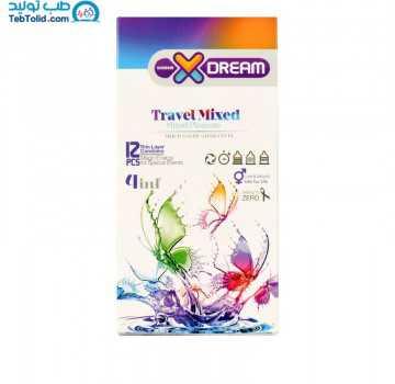 کاندوم تراول میکس ایکس دریم بسته 12 عددی