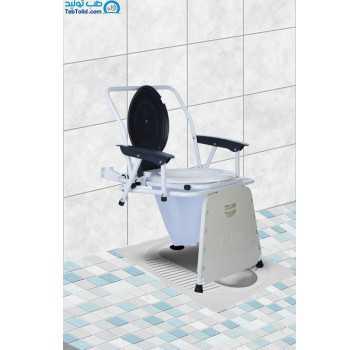 توالت فرنگی مبله تاشو دیواری آسانا