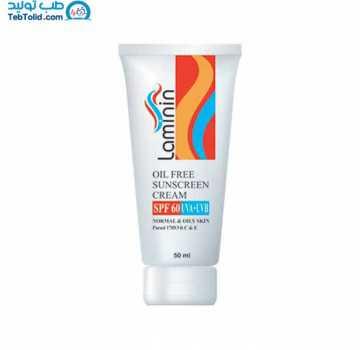 ضد آفتاب بی رنگ لامینین SPF50 حجم 50 میلی لیتر
